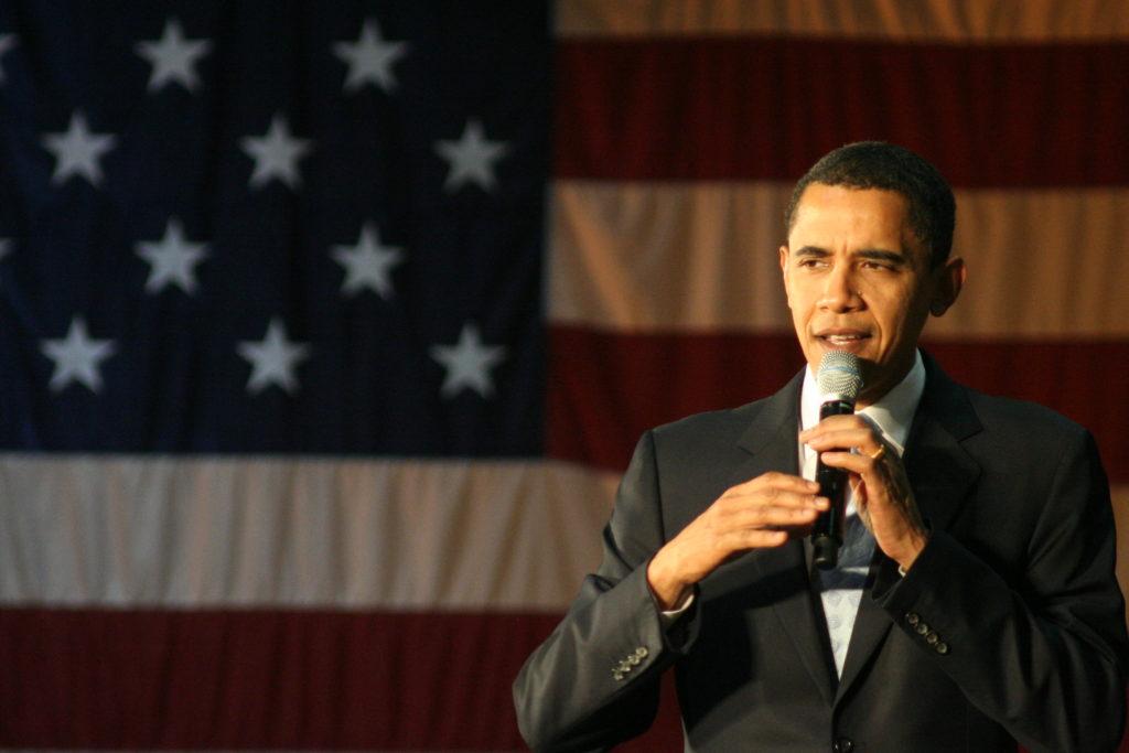 Barack Obama lors de la primaire en 208