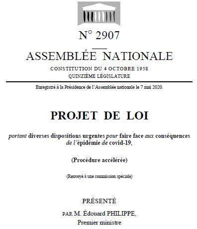 Projet de Loi du 7 mai 2020