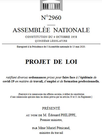 projet de Loi de ratification